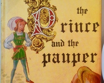 Vintage Classic Children's Book // The Prince and the Pauper by Samuel Clemens (Mark Twain)