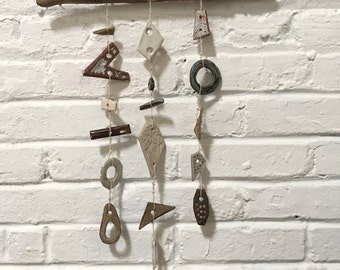 driftwood and ceramic ornament