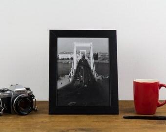 Erzsébet Bridge – Analog, black and white, darkroom, photography, print