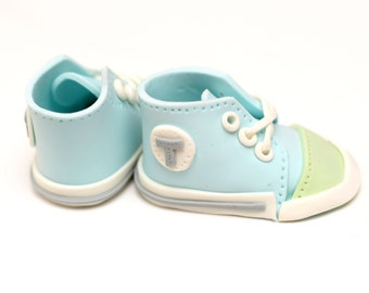 Fondant Baby Converse Shoes Cake Topper