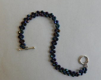 Beaded Woven Bracelet (7 inches long)