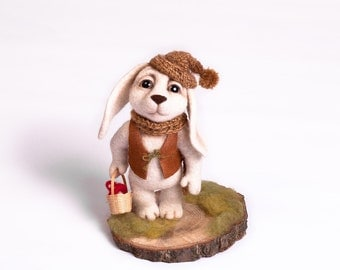 "Felted toy hare ""Forester"""