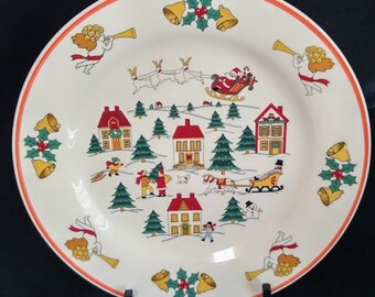 Five Jamestown China - The Joy of Christmas Plate 10""