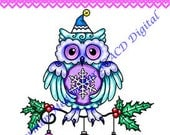 Holiday Owl DIGITAL STAMP Download - Carmen Medlin for SCACD