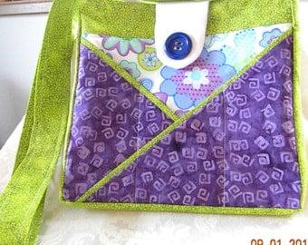Purple Flower Handbag