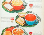 Campbell's Soup Original Ad from LIFE Magazine 1962
