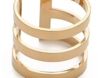 Festival Ring - 3 Gold Band Ring