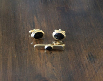 VIntage Speidel Tie clip and cuff links