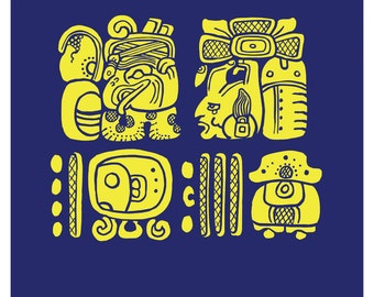 Custom Stylized Maya Name and Birthday - Digital