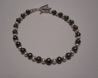 Freshwater Pearl and Sterling Silver Bracelet