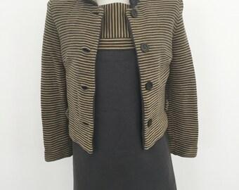 Striped Two Piece Dress Suit