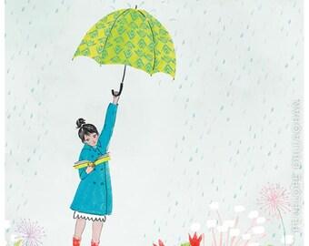 Rainy Day Reading Print