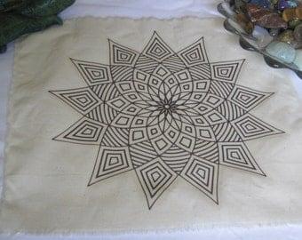 Flower Mandala Crystal Grid Cloth