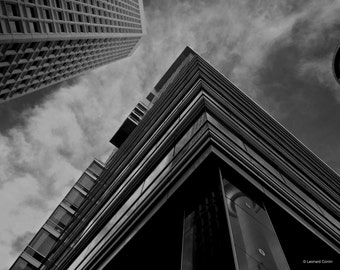 Black and White Urban architecture lines and textures photography