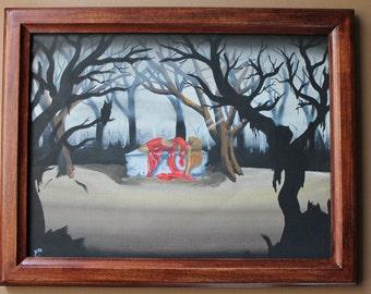 "Original 12""X16"" Fantasy art oil painting"
