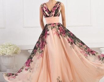 Women Wedding Evening Party Prom Ball Formal Gown Long Dress