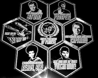 Star Trek Original Crew Unique Coaster Set