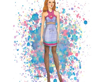 Fashion Illustration print. Confetti Girl