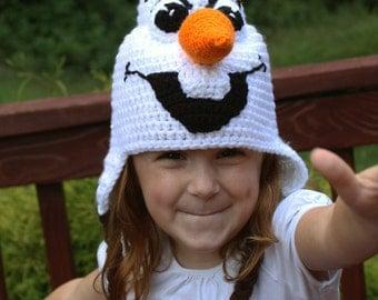 Frozen Olaf Costume, Crochet Hat PDF Pattern, Instant Download, Olaf Costume, Frozen crochet Hat Tutorial, Toddler, Child, Adult