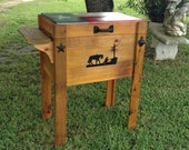 Custom cedar ice chest,made in the USA,made in TX,handmade ice chest,custom cooler,cooler,ice chest,cedar ice chest,wood ice chest,rustic