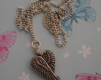 Handmade Angel WIngs Necklace on a 18 Inch Chain