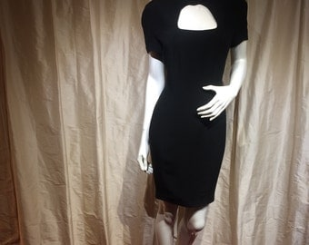 Thierry Mugler perfect panelled little black dress