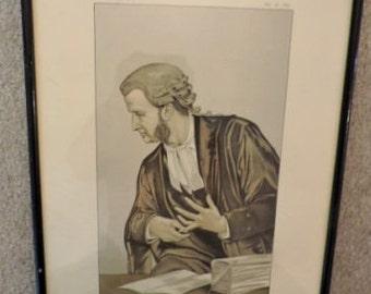"1883 Vanity Fair sketch ""Law and Conscience"""