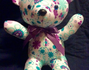 Keepsake Bear - made from 6 - 9 month baby sleeper/pajama