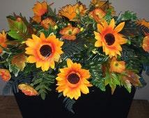Memorial Flowers, Headstone Saddle, Thombstone Decoration, Grave Decoration