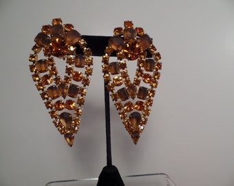Impressive 1960's Earrings in Autumn Colors