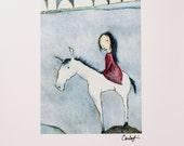 Print - Fairy Tale Rider Simple