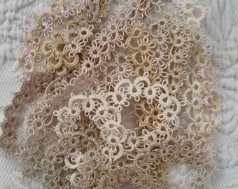 SPECIAL ORDERS  - Handmade Tatting Variety For Heirloom Quilting Sewing Trim Quilts Purse Wedding