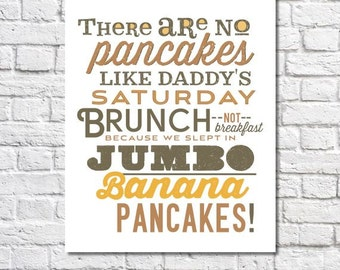 Personalized Kitchen Print Custom Kitchen Quote Sign Artwork Kitchen Decor Favorite Food Wall Art Fathers Day Gift For Dad Typography Poster