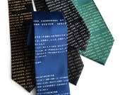 Commodore 64 Necktie. C64 tie. BASIC Code print. Computer science, geek gift. Silkscreened start screen, choose blue, green, amber & more!