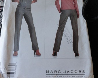 Vogue 2527 American Designer Marc Jacobs Jacket Pants and Vest Sewing Pattern size 8 10 12 UNCUT