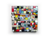 We Live In A Beautiful World. (Handmade Original Mixed Media Mosaic Assemblage Wall Hanging by Shawn DuBois)