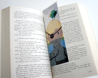 Pirate girl - illustrated bookmark