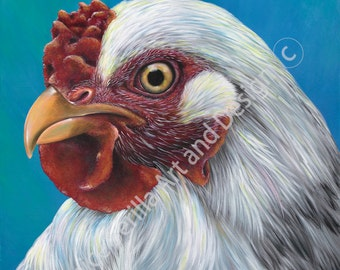 Artwork print Candace Cluck the chicken