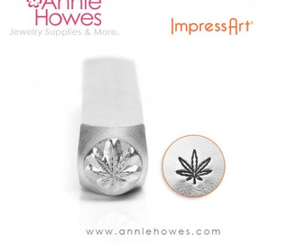 Impressart Metal Stamp  - Hemp Leaf Design Stamp