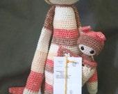 CLEARANCE - Bakana & baby Baradine the KANGAROOS - nearly 2 feet tall - based on a LALYLALA pattern