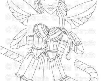 wild woodland meadow fairy tangles owl fairy digi stamp fairy. Black Bedroom Furniture Sets. Home Design Ideas