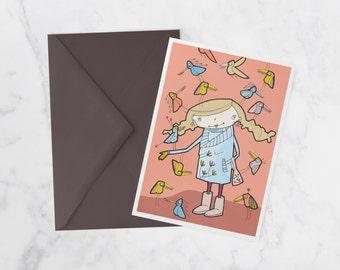 Yolaine, Note card