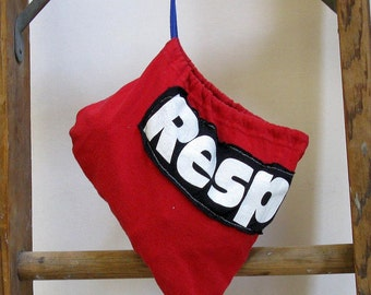 Red Respect Drawstring Pouch