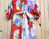 VINTAGE SALE - Vintage Chidren's Kimono Style Jacket - large child or XXS adult - Kimono Jacket - Vintage clothing