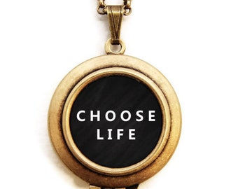 Life Locket - Choose Life Word Wear Locket Necklace