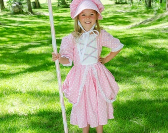 Cute Little Bo Peep costume dress and hat. NEW