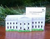 WHITE HOUSE Hand Painted Ornament