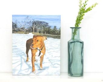 Gift Idea!  CUSTOM Pet Painting - 8x10 Pet Portrait