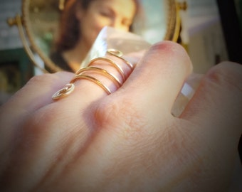 The Journey meandering ring in 10K eco recycled gold size 6 or your size