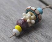 Handmade Orphan lampwork beads set (7) - B